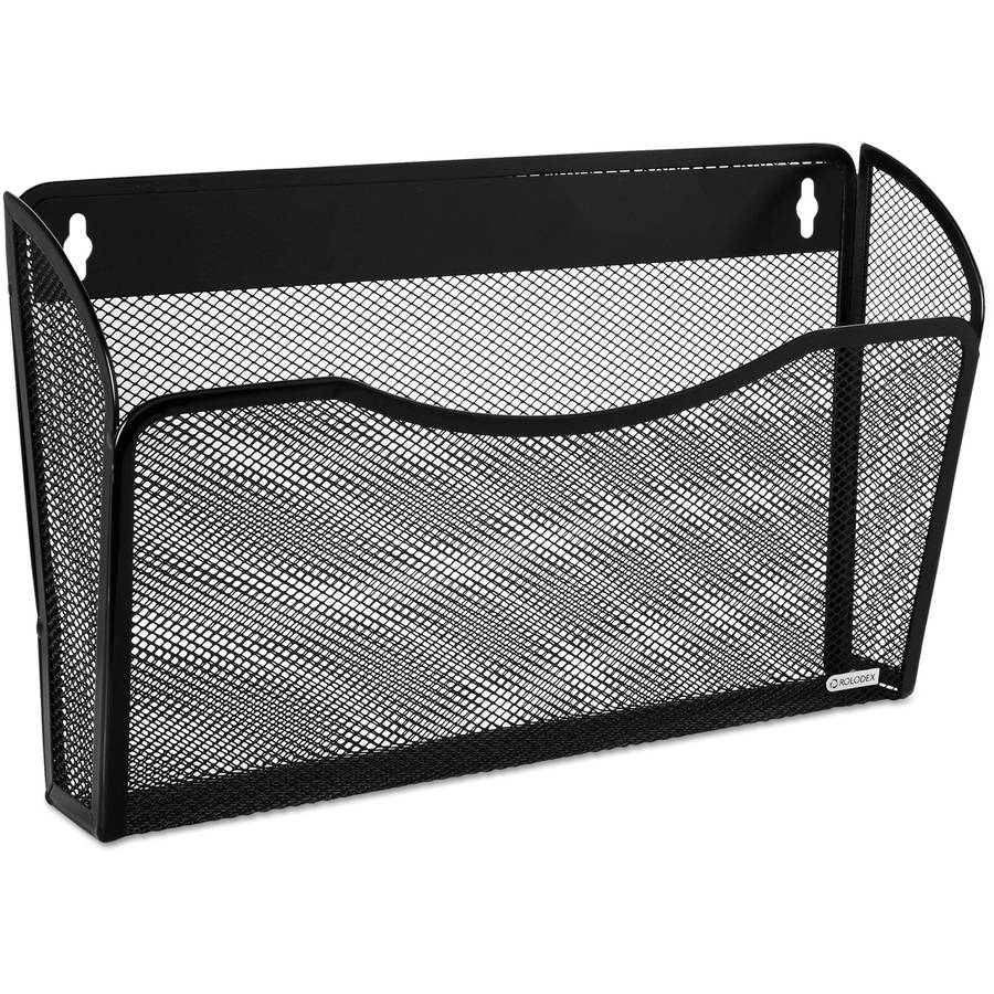Rolodex Single Pocket Wire Mesh Wall File, Black