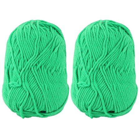 Festival Gift Scarf Sweater Hat Crochet Weaving Knitting Yarn Green 110G 2Pcs