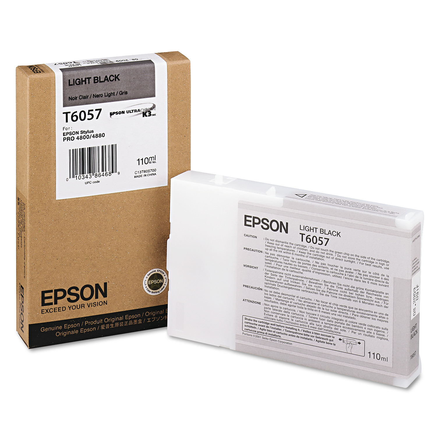 Epson T605700 (60) Ink, Light Black by Epson