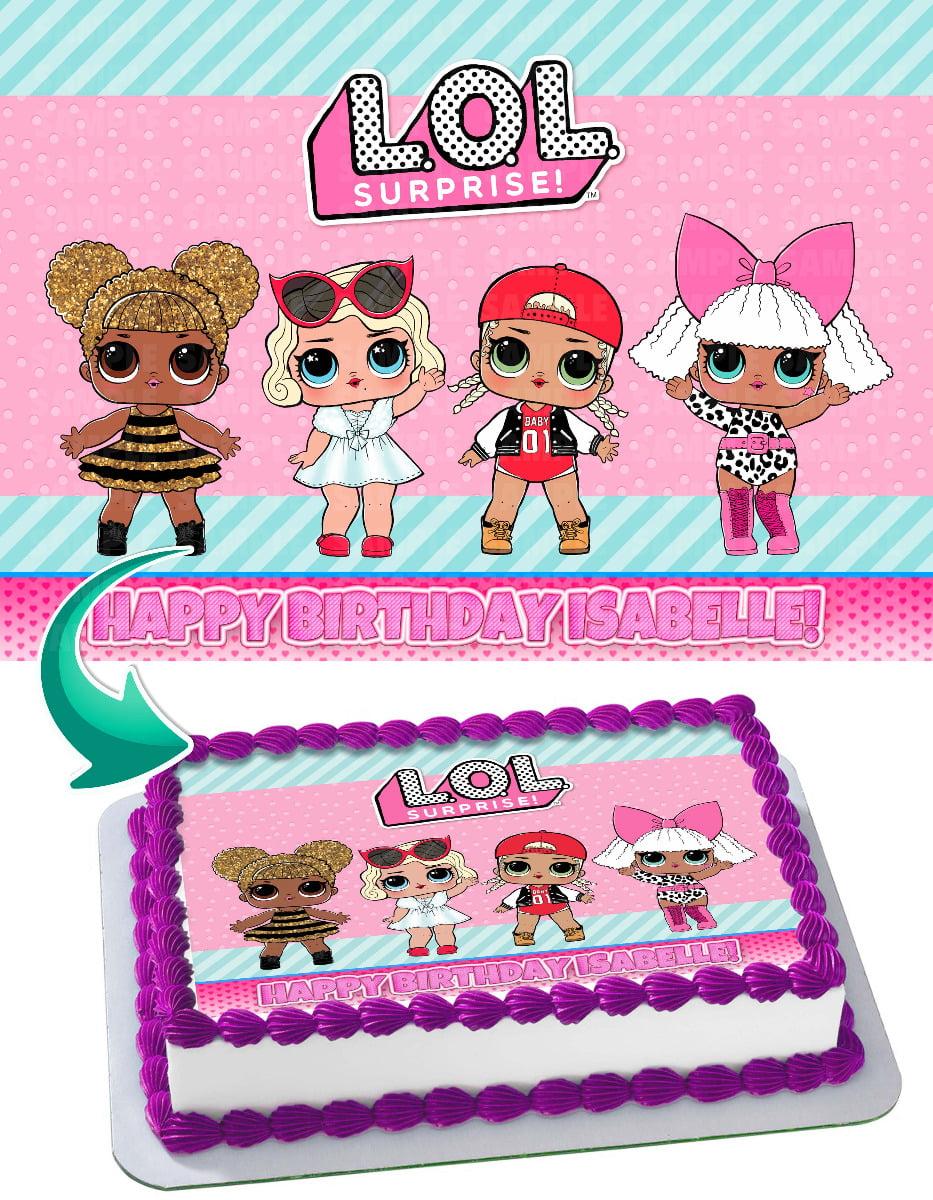 LOL Surprise Dolls - Edible Cake Topper - 11.7 x 17.5 ...
