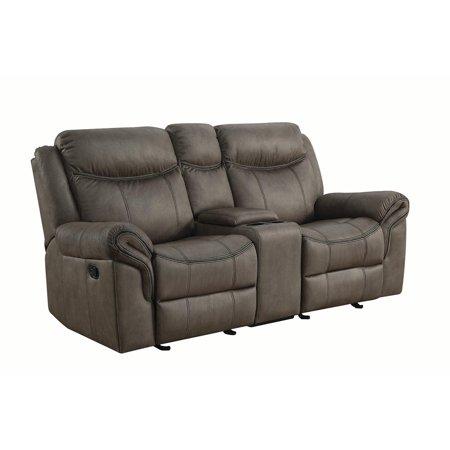 Coaster Leather Sofa Two Tone with Grey finish -