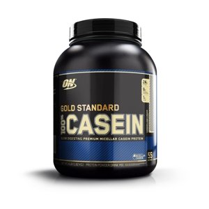 Optimum Nutrition Gold Standard 100% Casein Protein Powder, Cookies & Cream, 24g Protein, 4 Lb