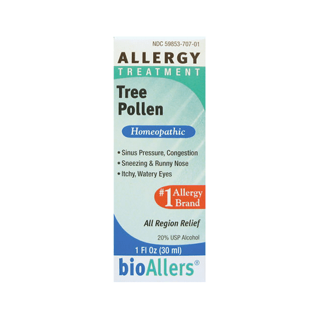 BioAllers Tree Pollen Allergy Treatment 1 fl oz (The Best Treatment For Sore Throat)