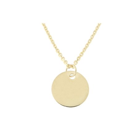 Beauniq 14k yellow gold small engravable disc pendant necklace 16 beauniq 14k yellow gold small engravable disc pendant necklace 16 17 aloadofball Image collections