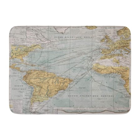 GODPOK Europe Atlantic Ocean Old Map by Paul Vidal De Lablache Atlas Classique Librerie Colin Paris 1894 Chart Rug Doormat Bath Mat 23.6x15.7 inch