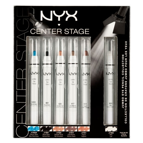 NYX Jumbo Eye Pencil Collection - Center Stage - 6 Pencils