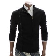 Mens Turtle neck Zip up Cardigan Sweater