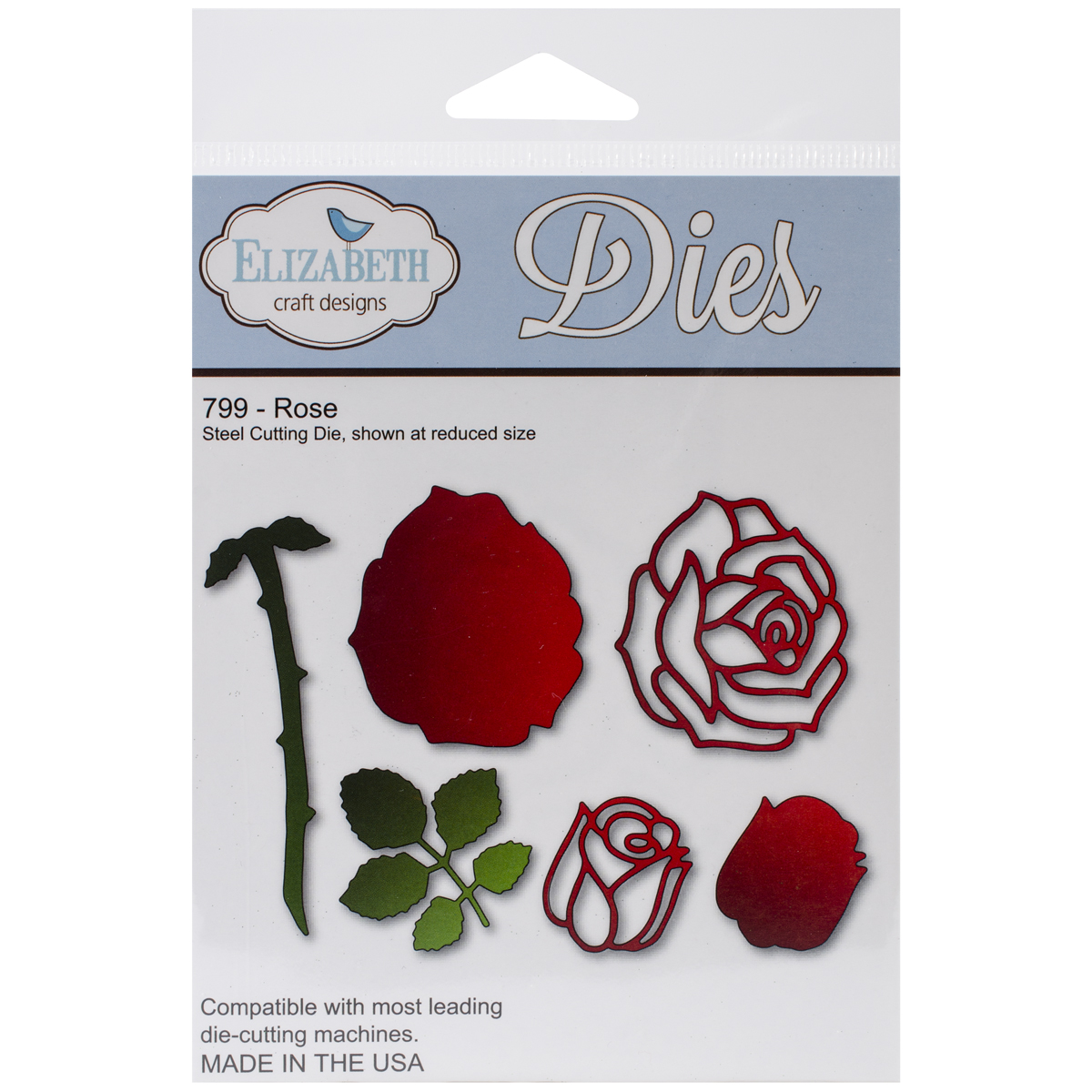 Elizabeth Craft Metal Die, Rose