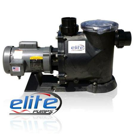 Elite Pumps 5600EP2LB23 Primer Pro 2 Baldor Series 1 by 4 HP 5600 GPH External Pond Pump](Ellie Pumps)