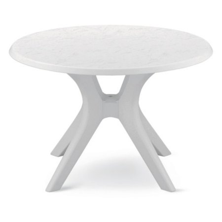 KETTLER 46 in. Round Kettalux Plus Table with Umbrella Hole