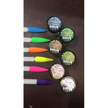 Mia Secret Nail Art Acrylic Professional Powder 6 Colors Set - FLASH NEON](Professional Halloween Nail Designs)