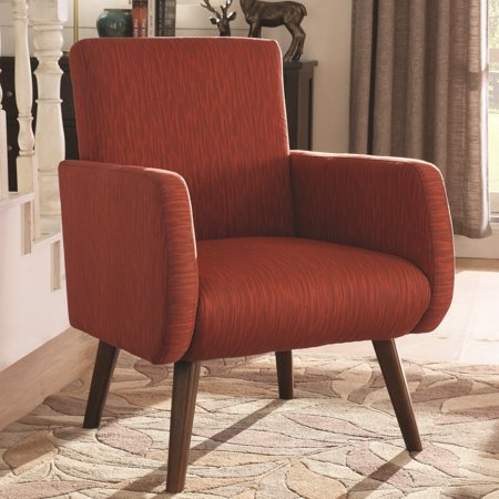 A line furniture mid century modern design orange red - Modern upholstered living room chairs ...