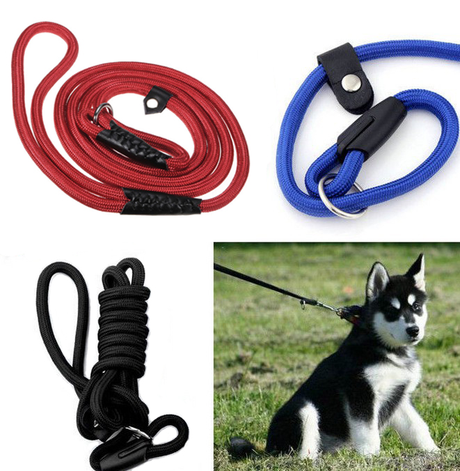 """59"""" Pet Dog PUPPY Nylon Rope Training P Leash Slip Lead Strap Collar US Shipping,Red color"""