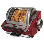 Ronco ST5250RDGEN Digital Showtime Rotisserie and BBQ Oven Red