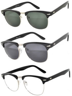 ef8171f760f Product Image Half Frame Silver Sunglasses Smoke Green Clear Smoke Lens  Fashion Retro Uv Protection Brand OWL (
