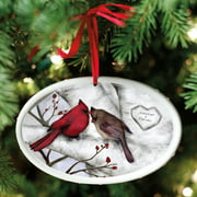 Personalized Loving Cardinals Couple Christmas Ornament