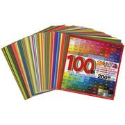 Aitoh 100 Color Origami Paper Assortment