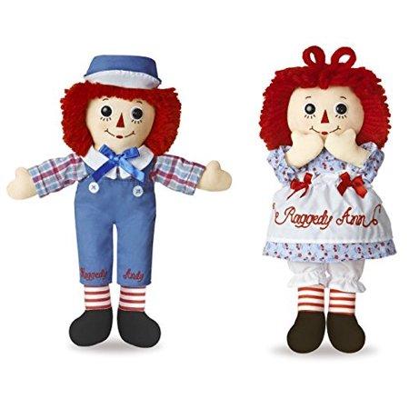 Aurora Bundle of 2 Dolls - 12'' Raggedy Ann & Raggedy Andy How To Make A Raggedy Ann Doll