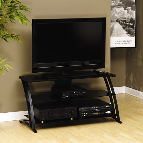 Sauder Black TV Stand for TVs with bases up to 39""