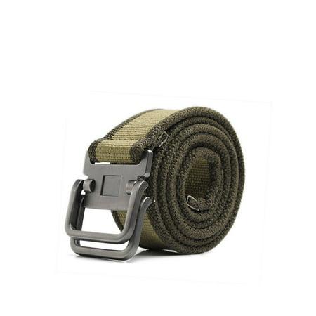 Mens Alumium Slide Buckle Webbing Canvas Waist Belt (Slide Buckle Belt)