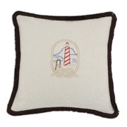 Brite Ideas Living Saxony Embroidered Lighthouse 17 x 17 in. Pillow
