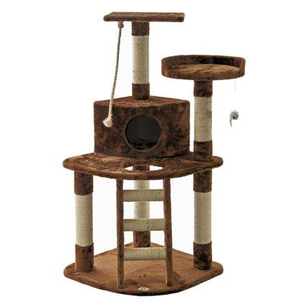 Go Pet Club Cat Tree Furniture 47 5 In High Pie In The Sky Brown