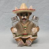 Fiesta Flav Chihuahua Dog Wearing Poncho & Sombero Salt & Pepper Shakers