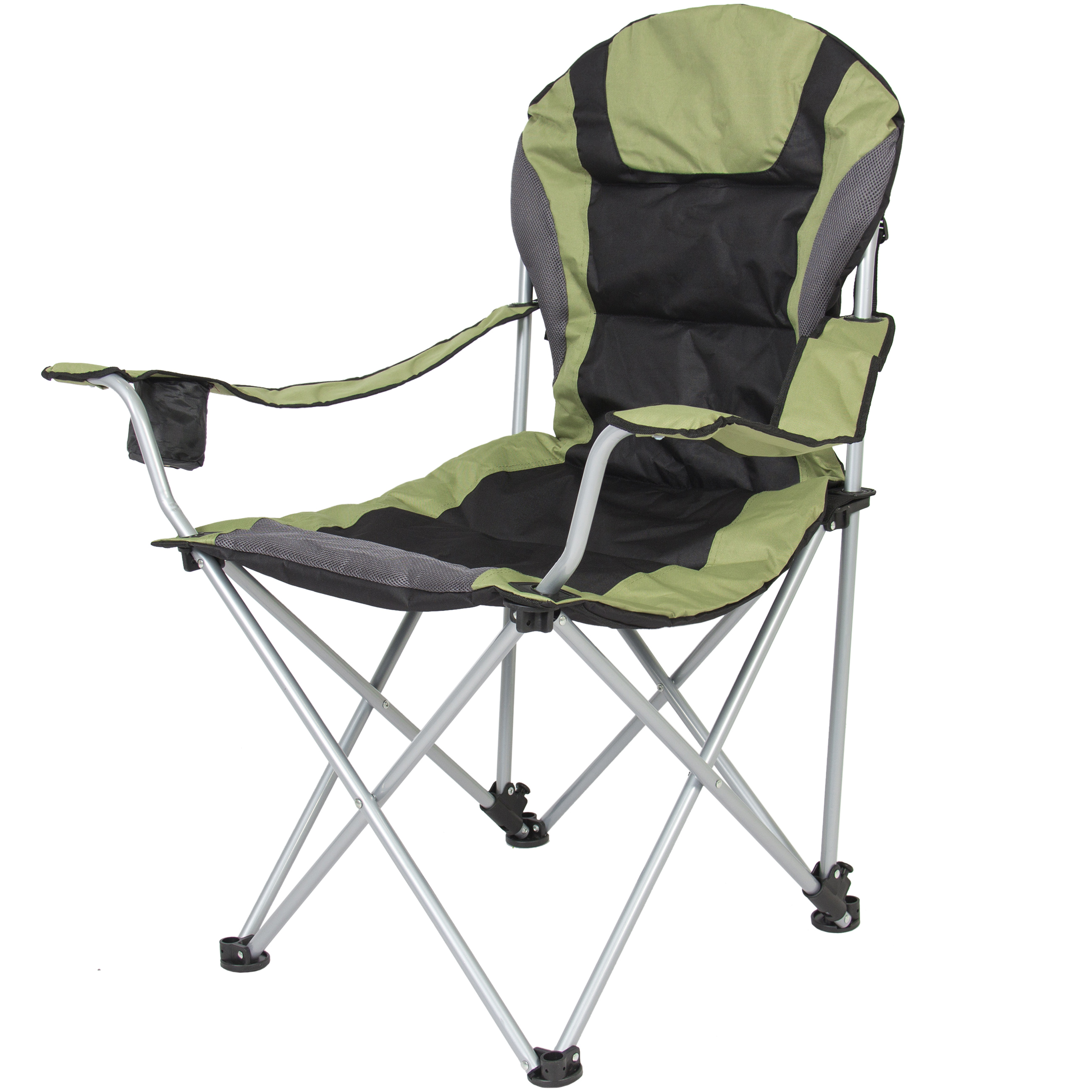 Best Choice Products Deluxe Padded Reclining Camping Fishing Beach Chair With Portable... by Best Choice Products