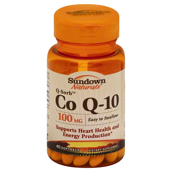 Sundown Naturals Q-Sorb Co Q-10 Softgels, 100 Mg, 40 Ct