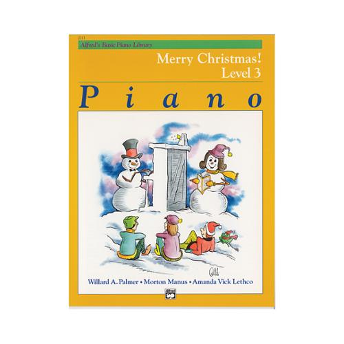 Alfred 00-2213 Basic Piano Course- Merry Christmas Book 3 - Music Book