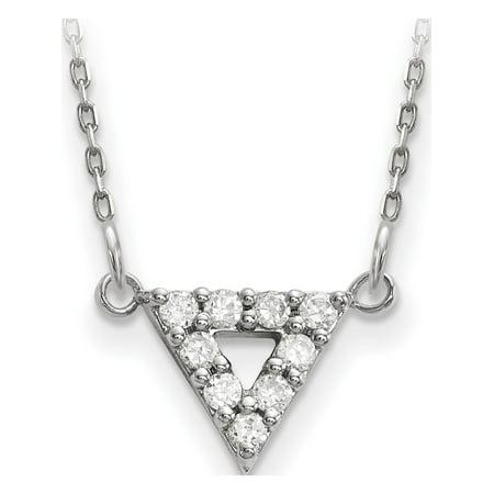 Or blanc 14 ct Blanc Une qualit? de diamant de 9 mm Collier Triangle - image 2 de 2