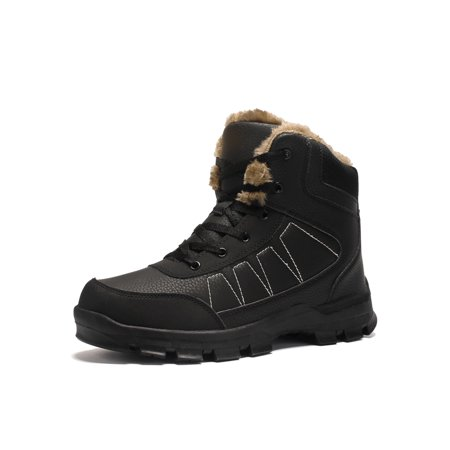 OwnShoe Snow Boots Ankle Warm Anti-Slip Fur Shoes (Best Anti Slip Snow Boots)