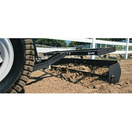 Agri-Fab 45-0265 Ground Engaging Attachment Sleeve Hitch Scraper Box, Black, 7.5 x 12.5 x 50.5 in.