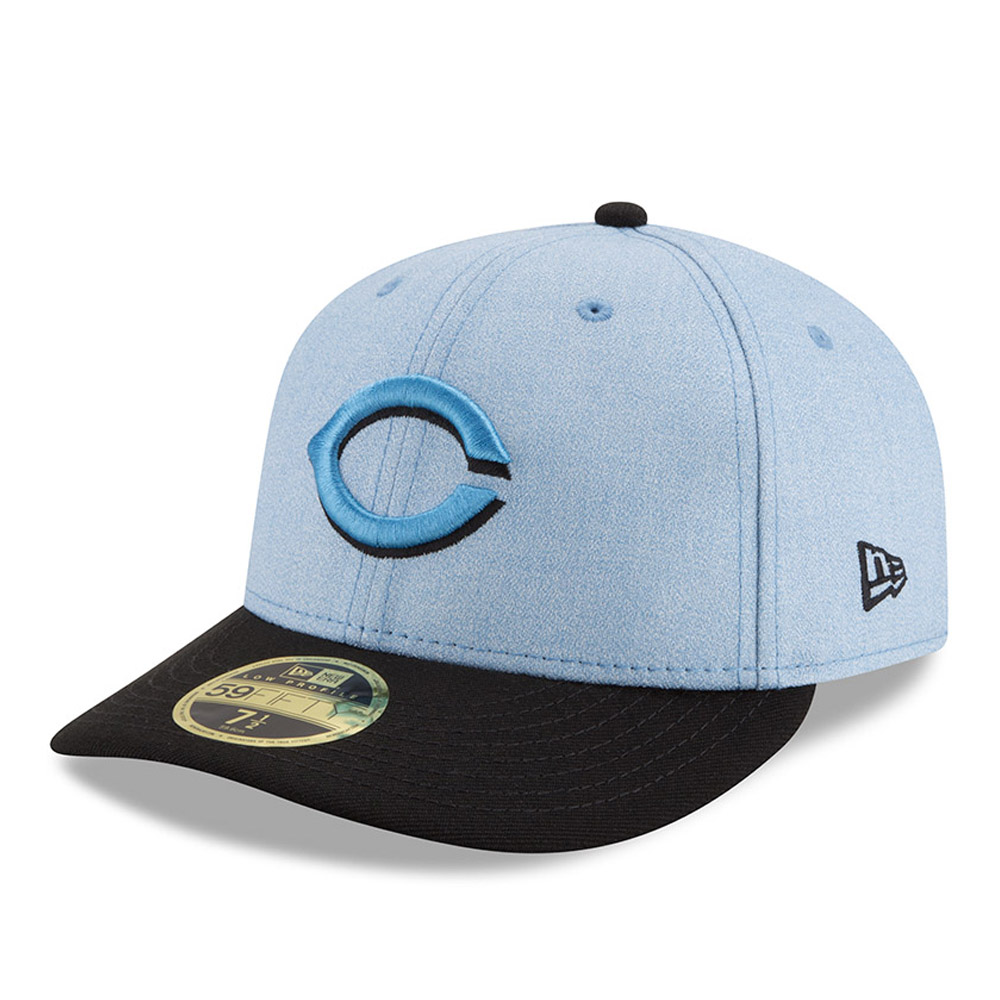 Cincinnati Reds New Era 2018 Father's Day On Field Low Profile 59FIFTY Fitted Hat - Light Blue