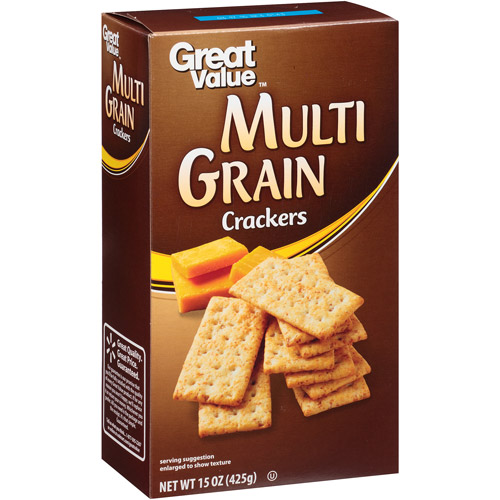 Great Value Multigrain Crackers, 15 oz
