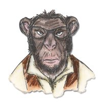 Sizzix Framelits Dies - Hipster Chimp by Tim Holtz