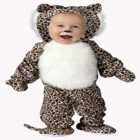 Fun World Costumes Baby's Li'L Leopard Infant Costume, Brown/Black/White, Small