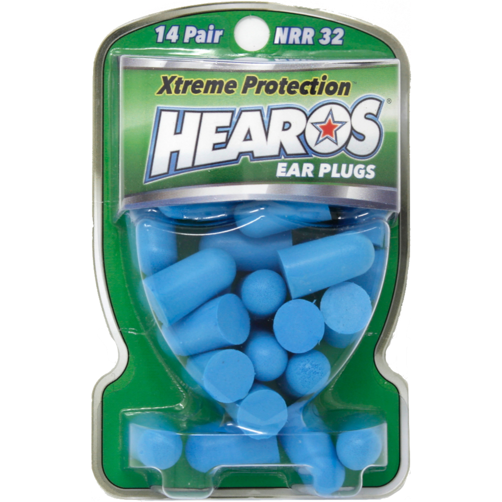 HEAROS Xtreme Protection, 14 Pairs, NRR 32 Ear Plugs