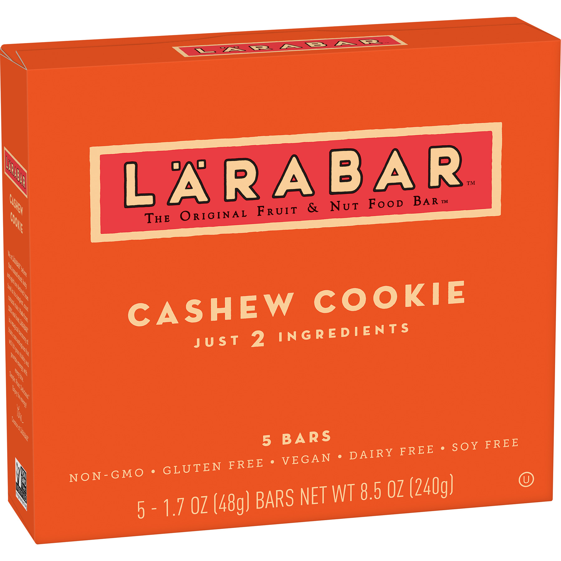 Larabar Gluten Free Bar, Cashew Cookie, 1.7 oz Bars (5 Count)