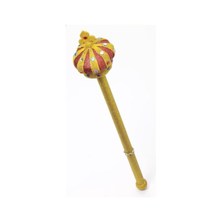 ROYAL SCEPTER W/GOLD GLITTER](Costume Scepter)