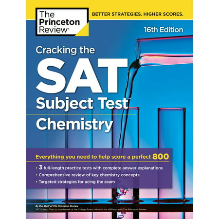 Cracking the SAT Subject Test in Chemistry, 16th Edition : Everything You Need to Help Score a Perfect (Go Duster Review)