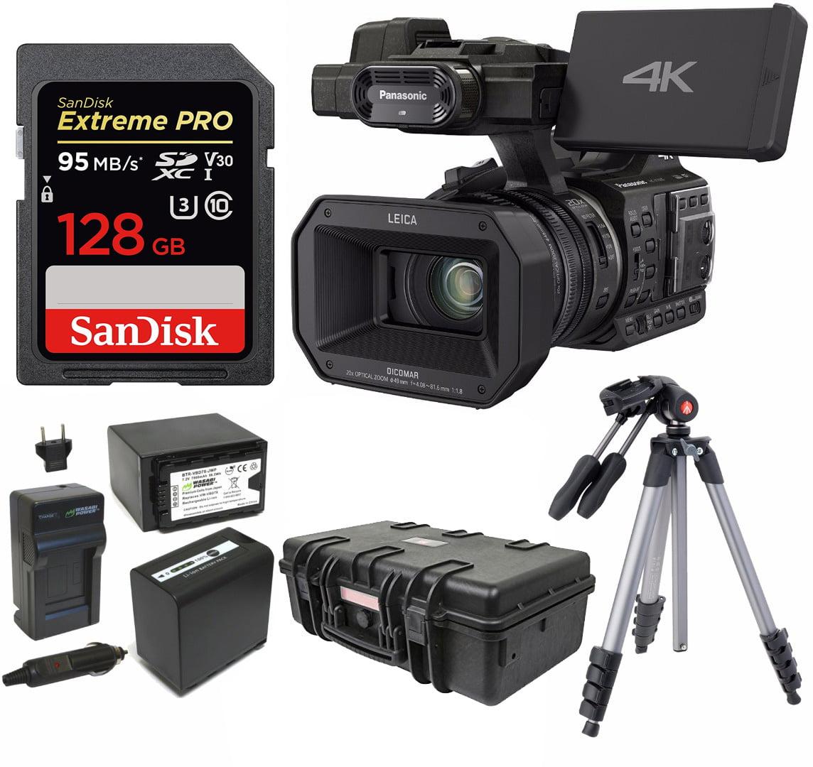 Panasonic HC-X1000 4K 24p Cinema Camcorder w/ 128GB SD & ...