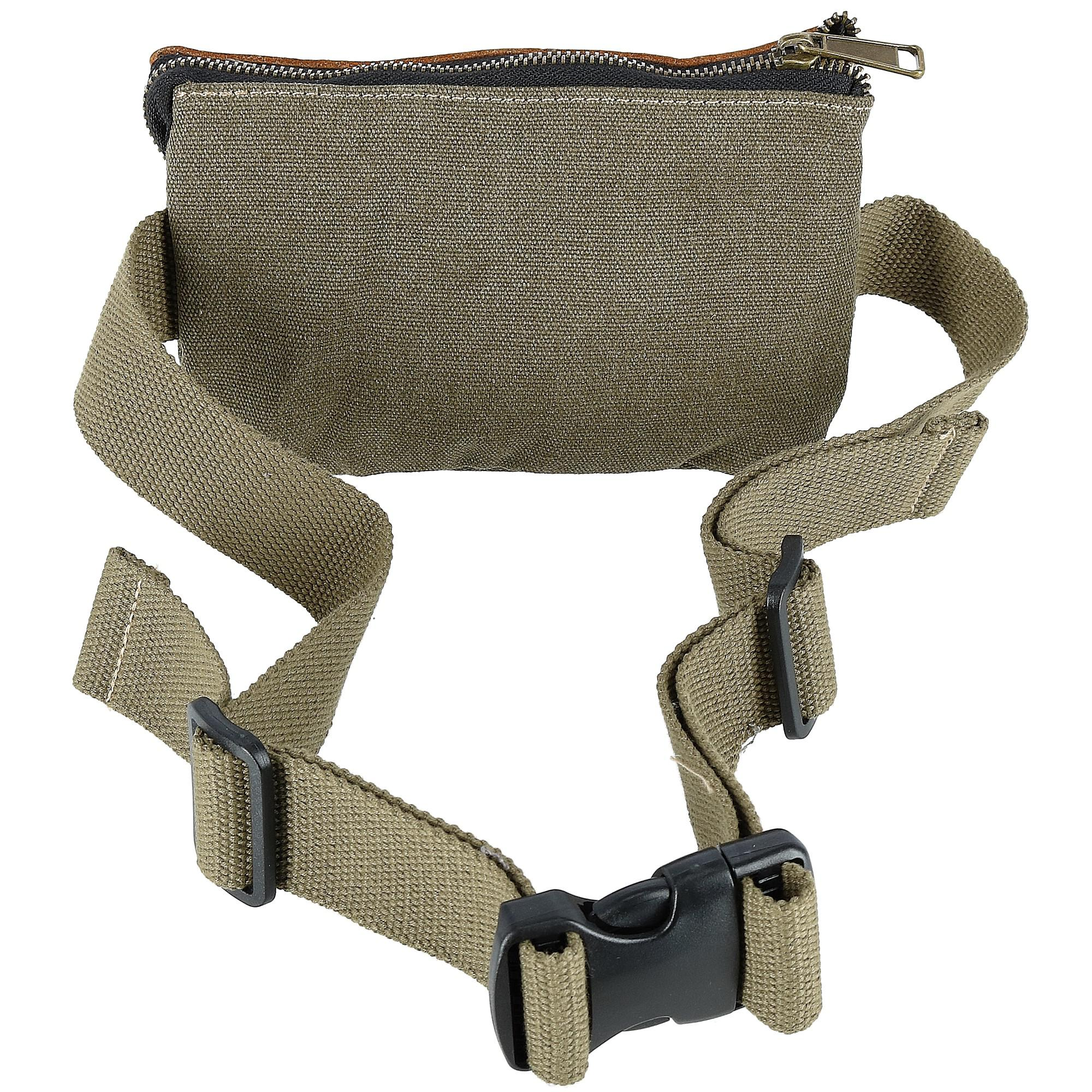 CTM Canvas and Leather Multi Pocket Waist Pack - image 1 of 3