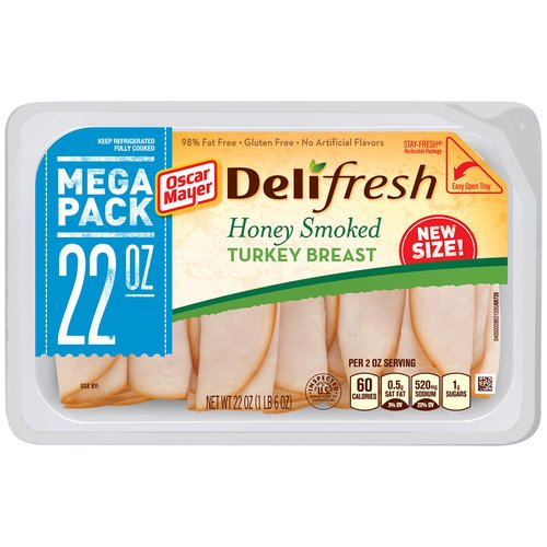 Oscar Mayer Deli Fresh Honey Smoked Turkey Breast, 22 oz