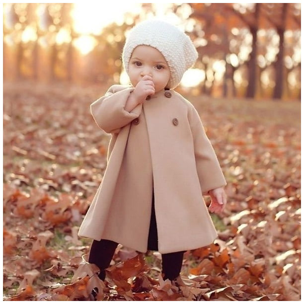 Autumn Winter Fashion Kids Clothing Girls Warm Coat Cute Trendy Jacket Baby Casual Outfits Winter Coat Kids Long Coat 0-5Y