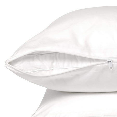 Circles Home 100% Cotton Zippered Pillow Protectors Standard 4 Pack