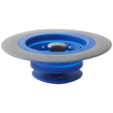 Collapsible Silicone Sink Strainer Stopper Blue Strainer