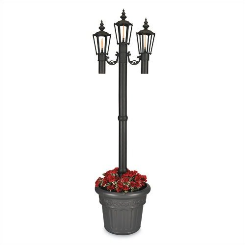 Patio Living Concepts Newport 84'' Outdoor Post Lantern Set with Planter