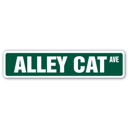 "ALLEY CAT Street Sign cat breed feline kitty kitten | Indoor/Outdoor |  24"" Wide"