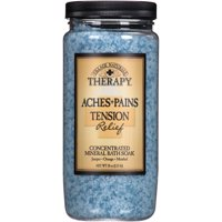 Village Naturals Therapy Aches & Pains Tension Relief Mineral Bath Soak 20 Oz